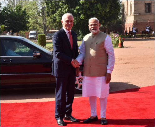 Australian PM Malcolm Turnbull visit India to boost trading and security ties