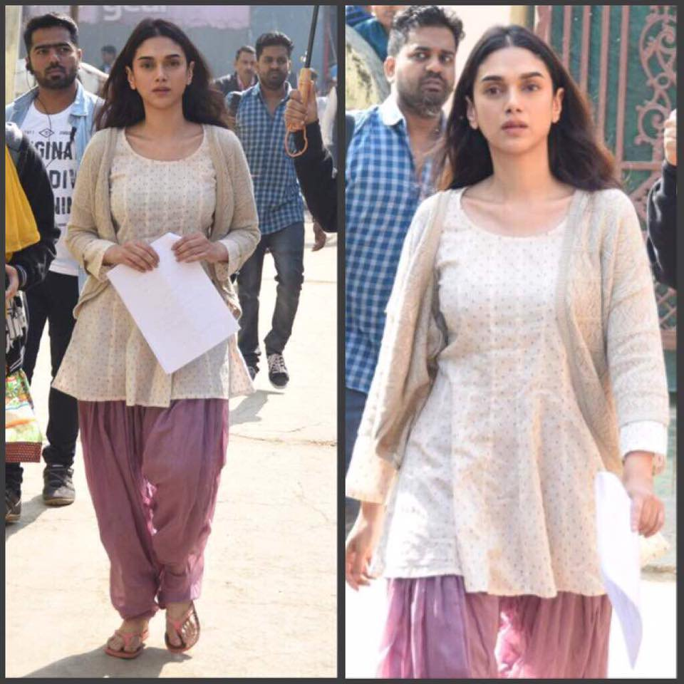 Aditi Rao Hydari on set