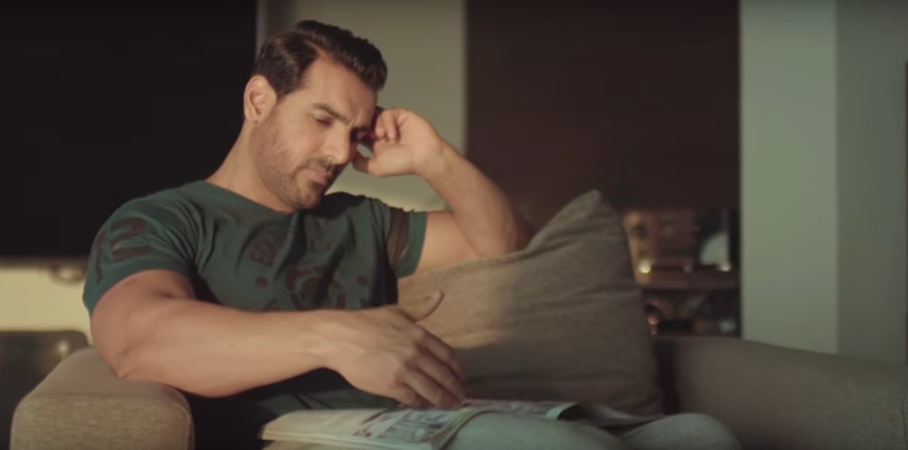 JOHN ABRAHAM'S NEW OFFICE SPACE HAS HIM ELATED