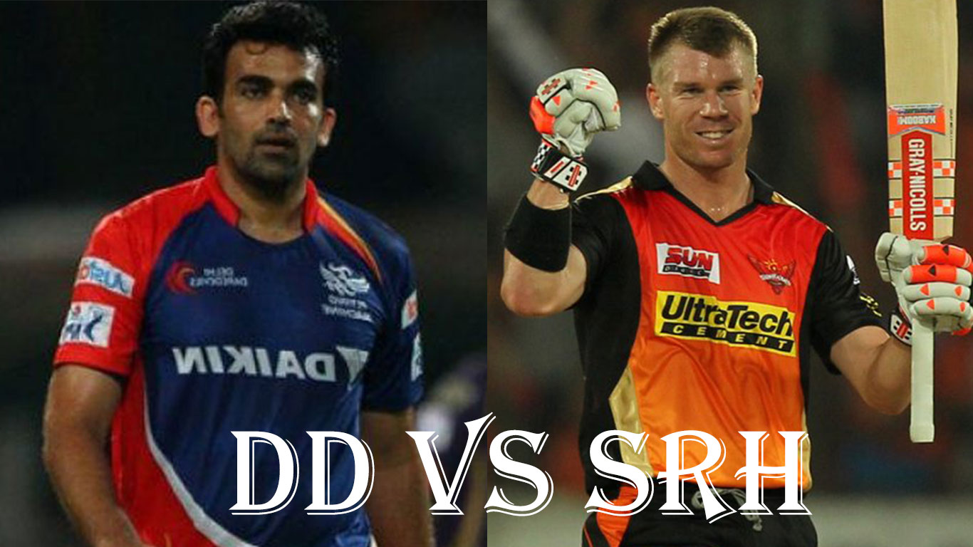 David Warner's SRH Vs Zaheer Khan's DD, IPL10 2017 19 April 21st Match preview