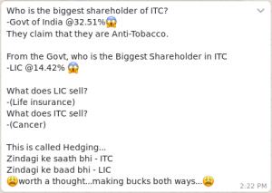 ITC joke