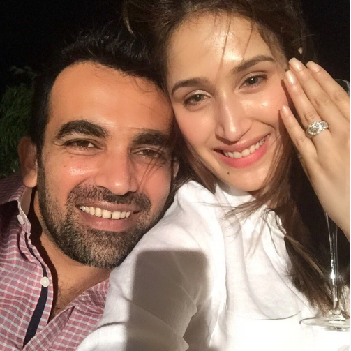 Zaheer Khan got engaged to his lady love Sagarika Ghatge