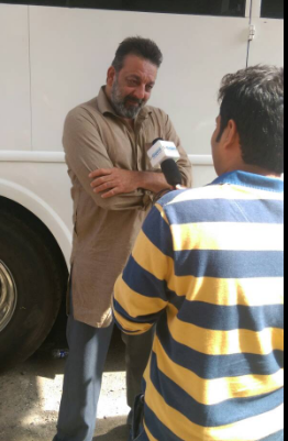 Sanjay Dutt's at bhoomi's set