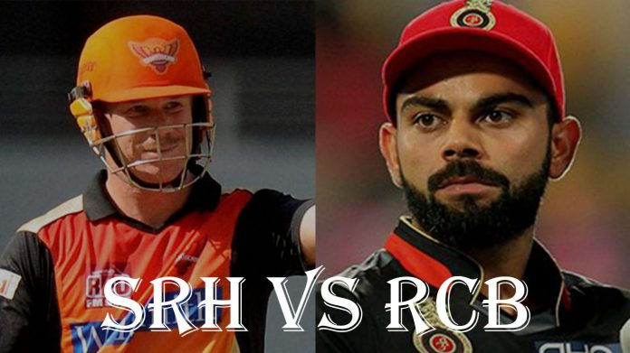 Sunrisers Hyderabad vs Royal challenger Bangalore