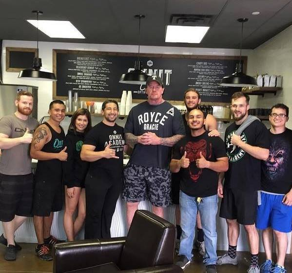 Undertaker with fans