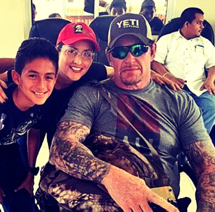Undertaker with his fans