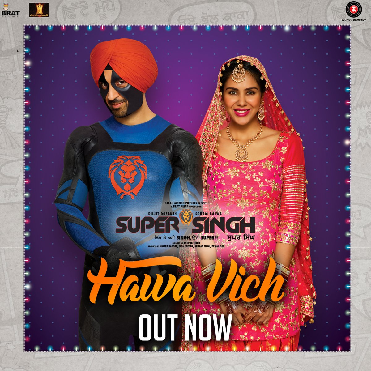 Watch : Diljit Dosanjh starrer Super Singh first song Hawa vich is out