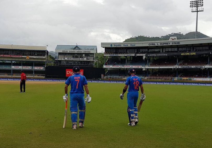 India v/s West Indies first ODI  highlights: Play abandoned due to rain with India in command