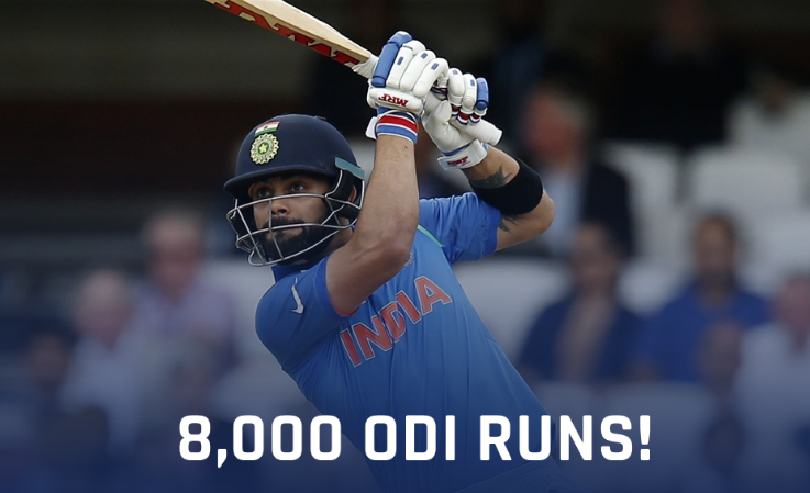 Virat Kohli becomes fastest batsman to surpass 8000 runs milestone In ODI cricket