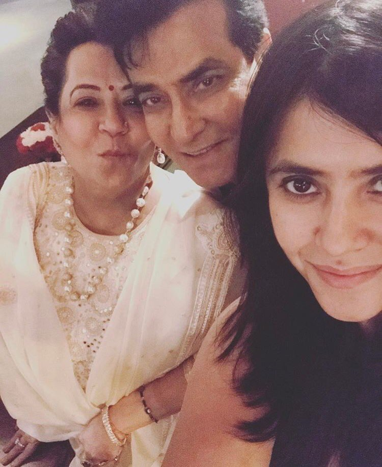 Ekta Kapoor With Her Mom & Dad