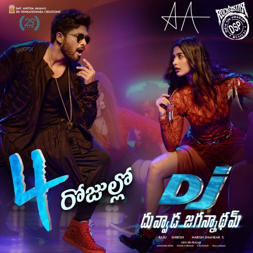 DJ (Duvvada Jagannadham) movie: Four days to go for the grand release