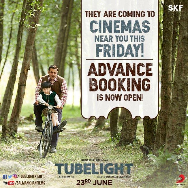 Advance Booking opens for Salman Khan starrer Tubelight