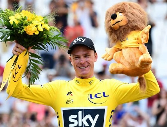 Christopher Froome won histhird straight and fourth Tour de France title