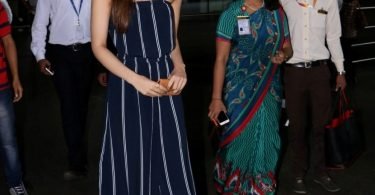 Actress Kriti Sanon spotted at the Chhatrapati Shivaji International Airport