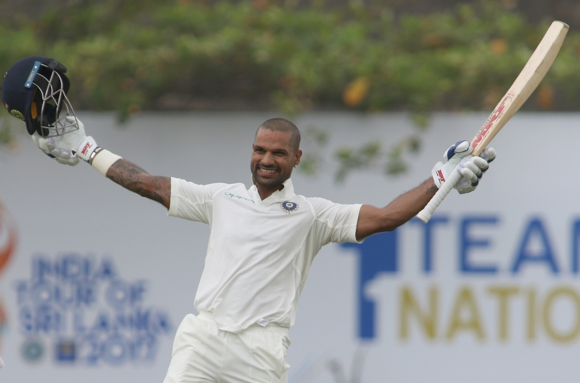 India Vs Sri Lanka 2017, 1st Test: Shikhar Dhawan pummels Sri Lanka, India heads to a big score at the end of first day