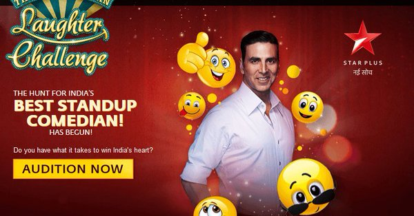 The Great Indian Laughter Challenge judged by Akshay Kumar auditions in progress