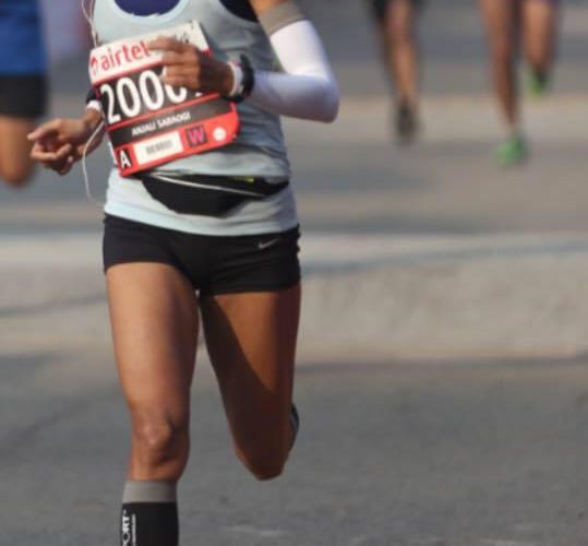 Anjali Saraogi the first Indian woman to complete 89 km Comrades Marathon