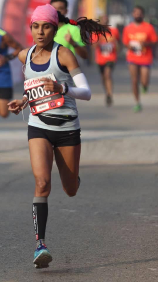 Anjali Saraogi the first Indian woman to complete 89 km Comrades Marathon