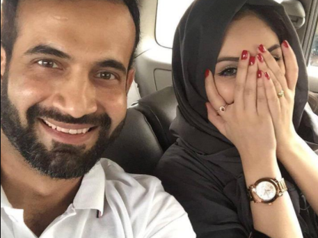 Irfan Pathan wife trolled for posting a picture in which she is not covering her arms and wearing nail-polish