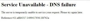 Yes Bank DNS error