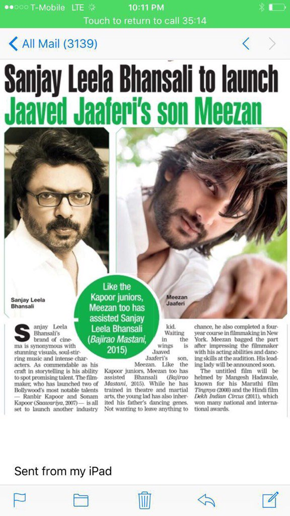 Jaaved Jaaferi's Son Meezan To Debut With Sanjay Leela Bhansali