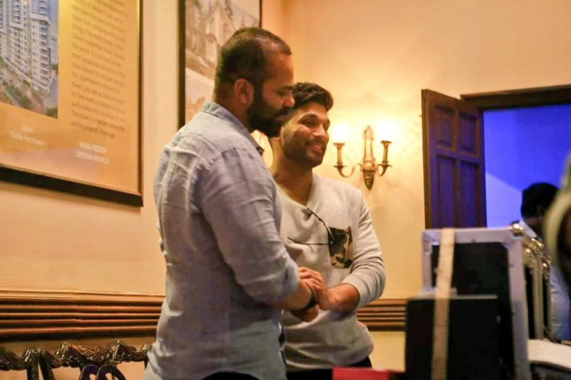 Allu Arjun, the Telugu film actor, on the set of Rohit Shetty's Golmaal Again