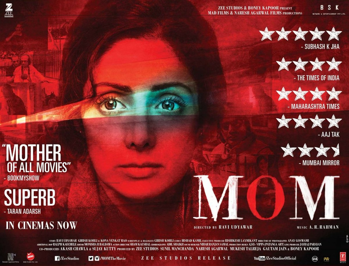 Sridevi starrer MOM shows growth at Box Office