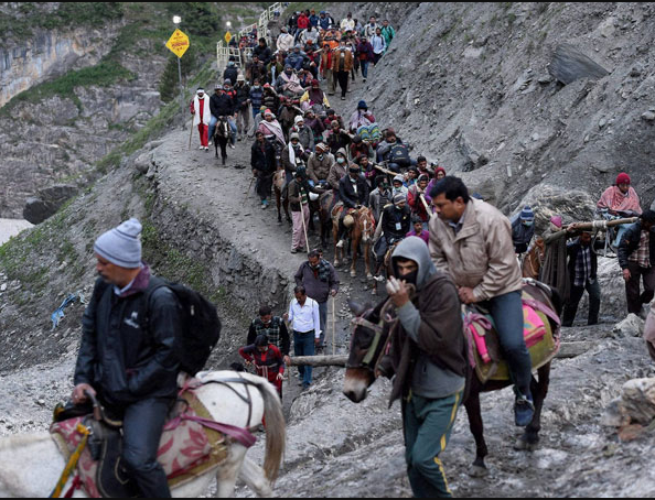 Amarnath Yatra  2017 progresses as yatris leave for shrine from base camp amidst tight security