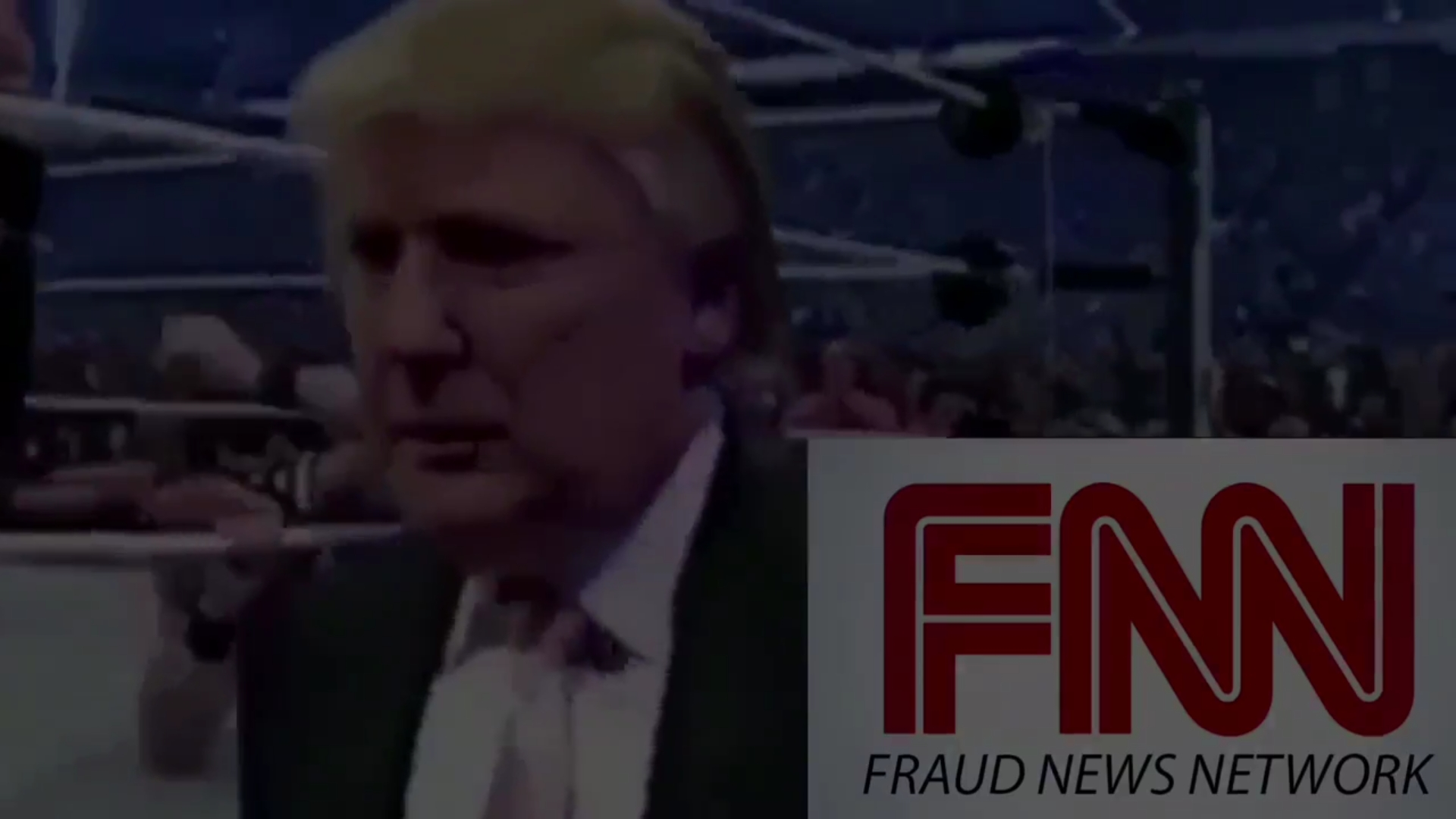 Trump Posts Violent Video of Him Beating Up CNN Logo