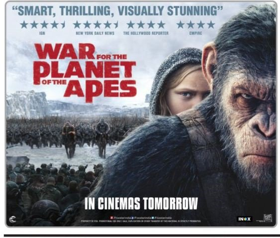War For The Planet of the Apes box office prediction: A 0 Million worldwide opening weekend is on the cards
