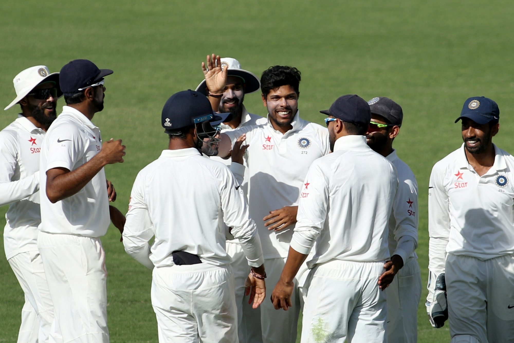 Pradeep takes five, but India surpass 500