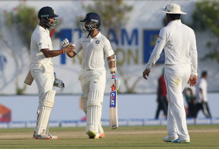 Pujara and Rahane fell early on Day 2 in India Vs Sri Lanka 2017, 1st Test