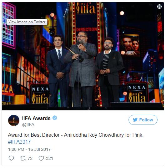 18th iffa awards 2017 Best Director award