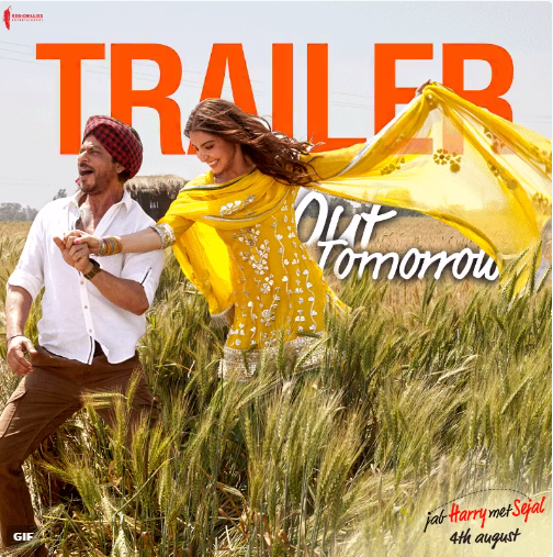 Jab Harry Met Sejal trailer launch tomorrow: Shahrukh Khan to be present virtually