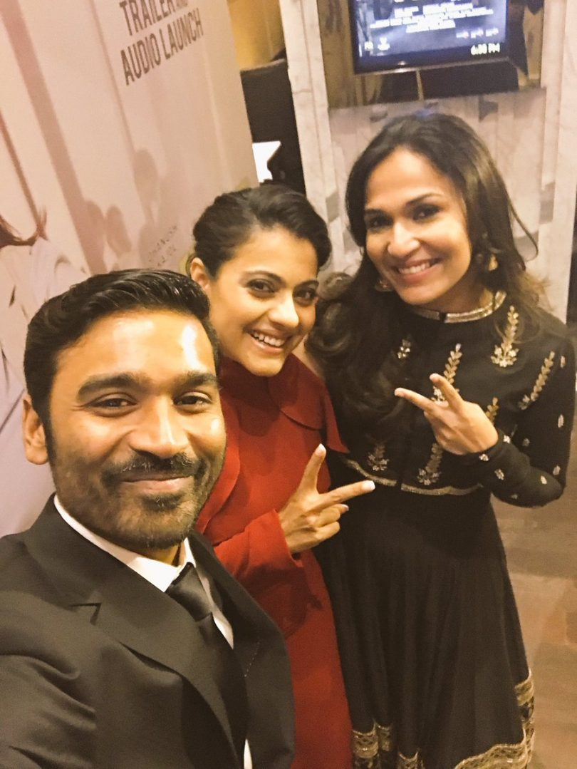 VIP2 release date announced by Dhanush and Kajol looks stunning at the event