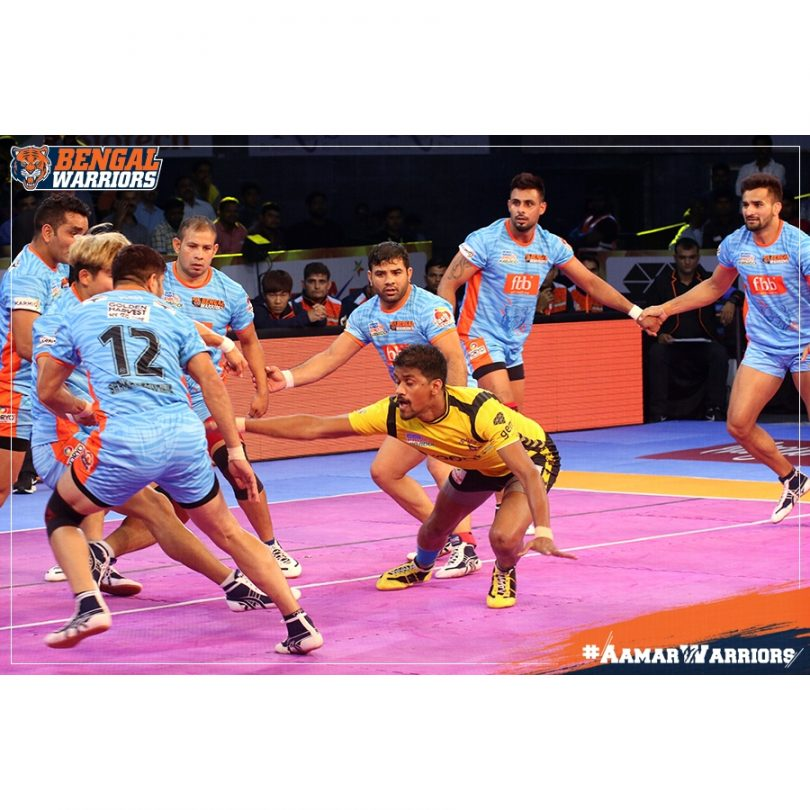 Pro Kabaddi League 2017 : Patna Pirates, Bengal Warriors Wins In One Sided Match