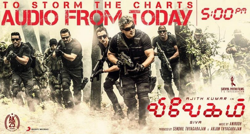 Vivegam Soundtrack Released Ahead Of Movie Release On August 24