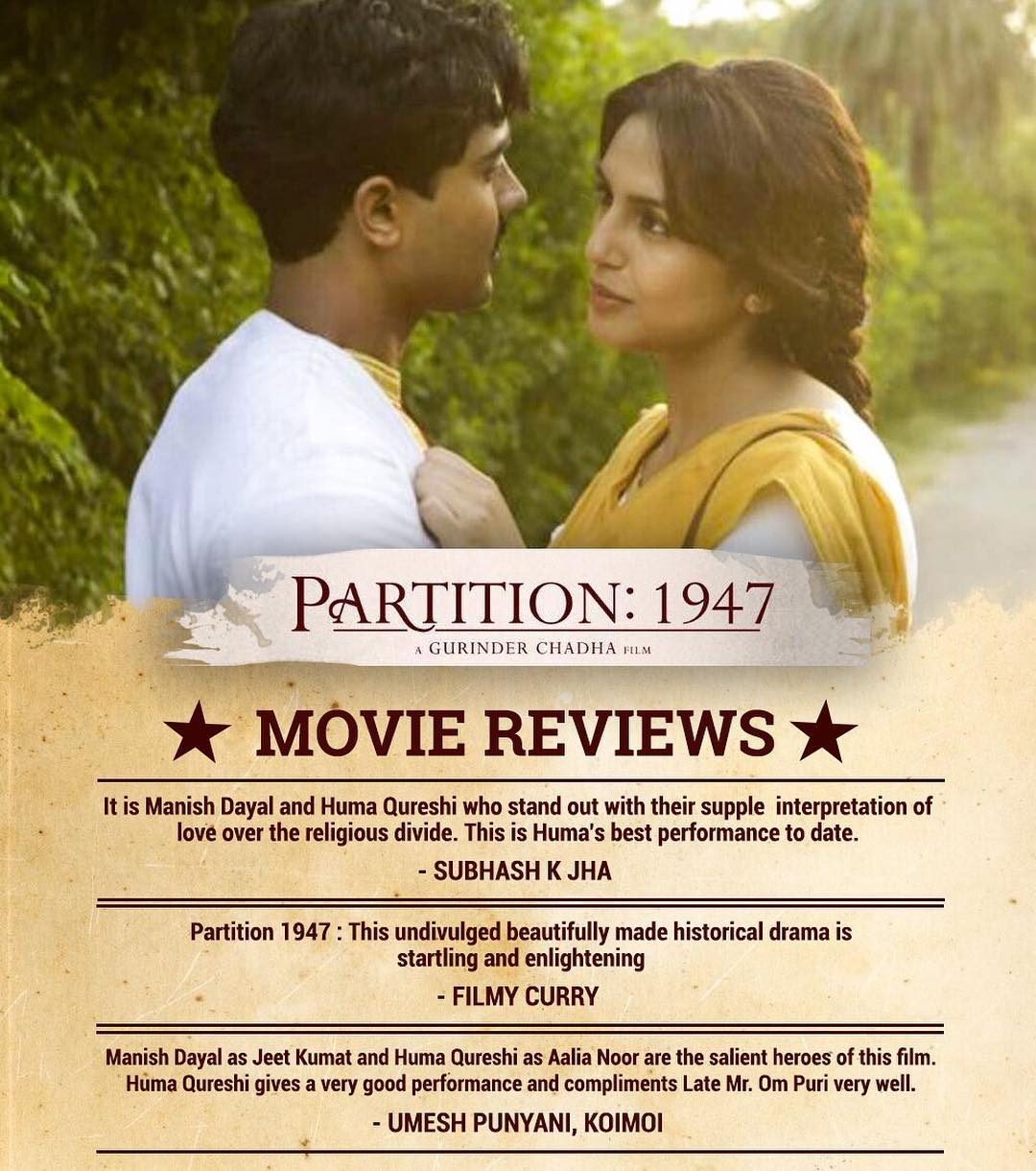 Partition 1947 movie review: Partition 1947 Rating & Public Talk