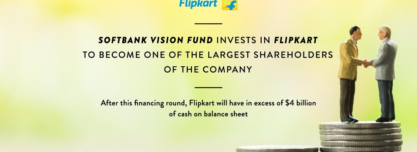 Flipkart recieved  billion investment from Soft Bank