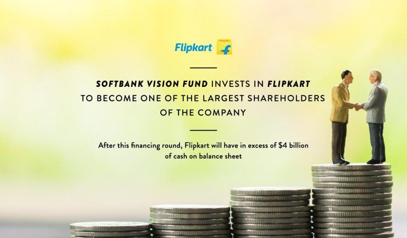 Flipkart recieved  billion investment from Soft Bank