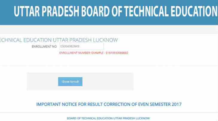 BTEUP Results 2017: UP Polytechnic Even Semester result declared; Check at result.bteupexam.in.