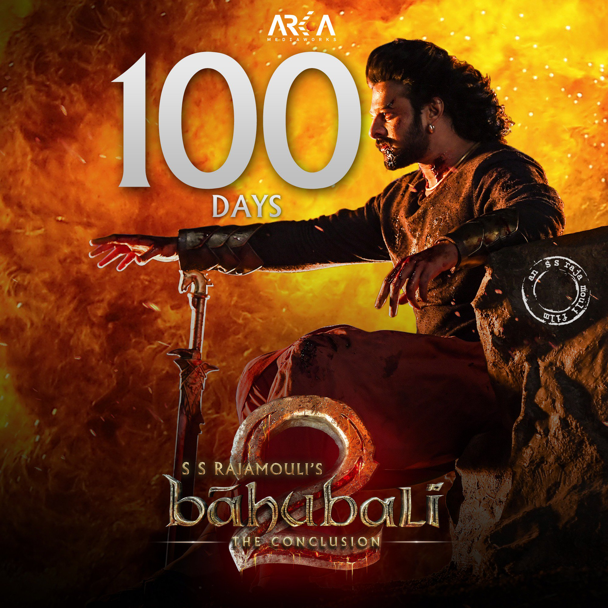 Baahubali : The Conclusion completed its 100th day in cinemas today