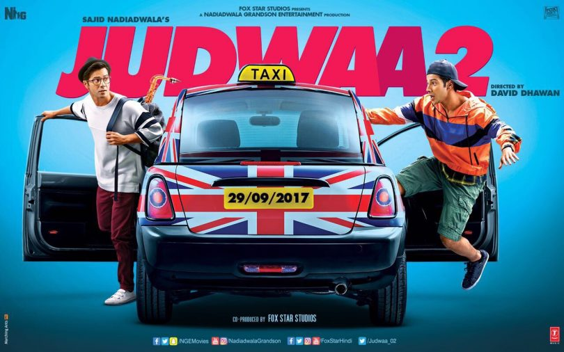 Judwa 2 poster starring Varun Dhawan is out now and shows Varun in both the avatars