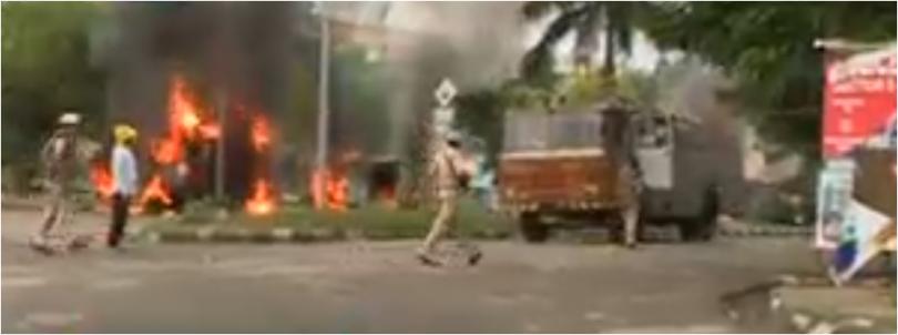 Gurmeet Ram Rahim verdict sets Panchkula on fire, protest turns violent