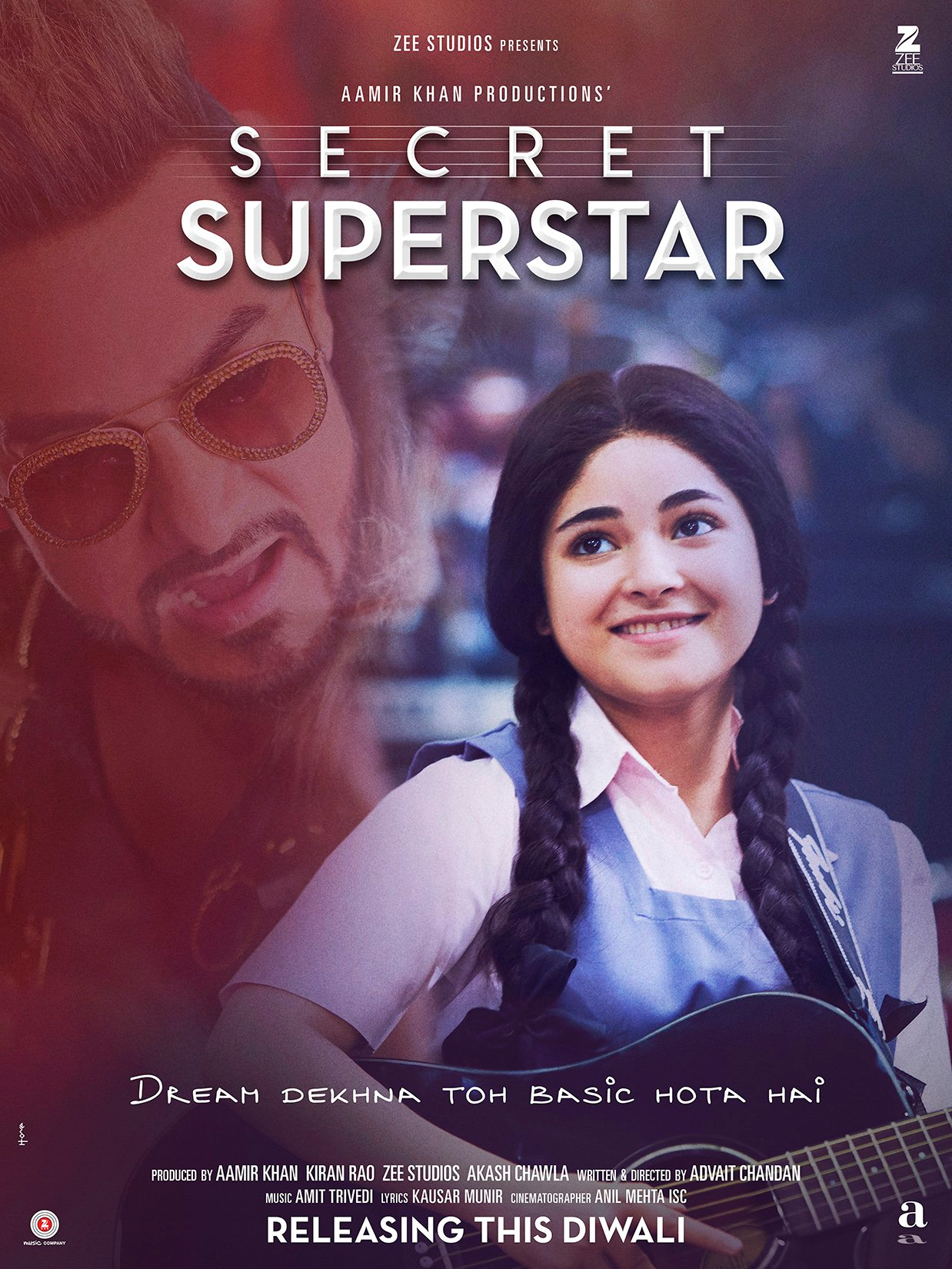 Aamir Khan 's Secret superstar to come with song launch on Monday