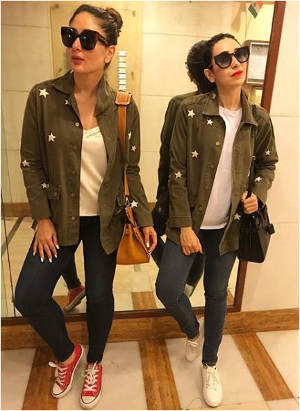 Kareena Kapoor twinning with Karisma kapoor