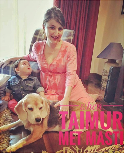 Taimur and Masti with soha ali khan