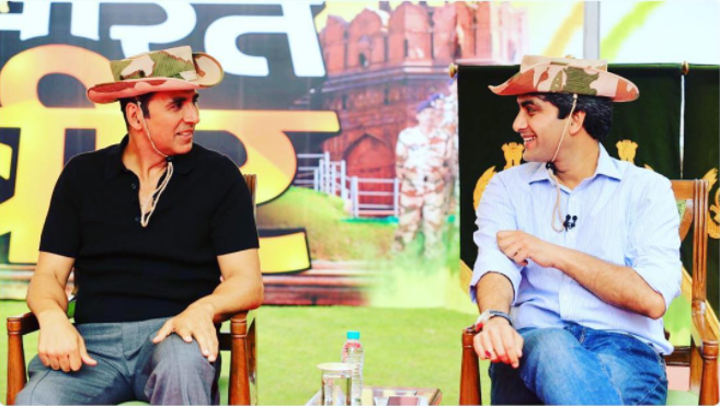 Akshay Kumar gets praised from Rajnath Singh for supporting Indian soldiers