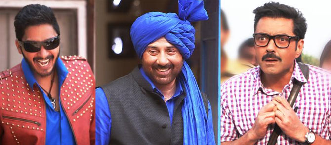 "Poster Boys releases song ""Kendi Menoo"" , Sunny Deol dancing in his trademark style"