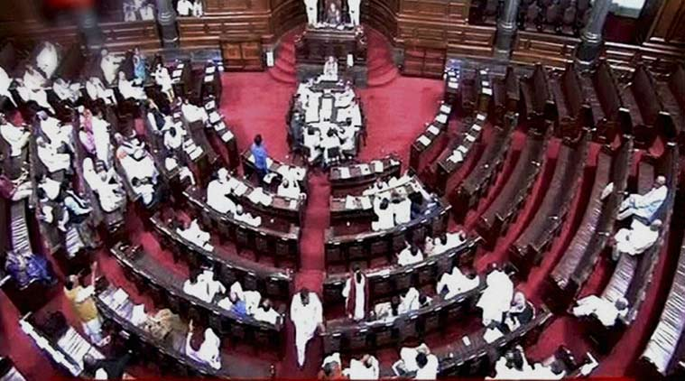 Rajya Sabha adjourned over raid in Bengaluru